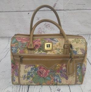 Vintage floral carpet/travel bag